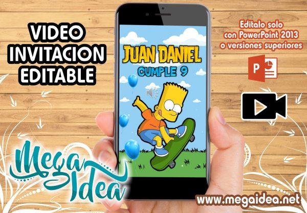 VIDEO Invitacion Simpson Bart
