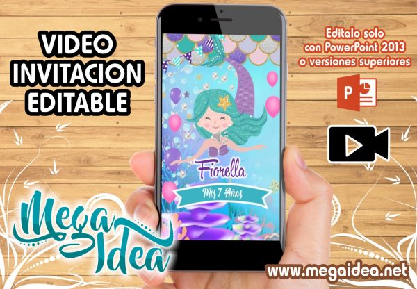 VIDEO Invitacion Sirenita Animada