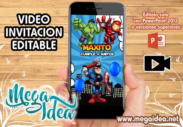 VIDEO Invitacion Vengadores Kids