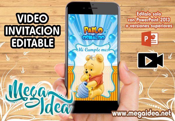 VIDEO Invitacion Winnie Pooh