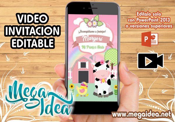 VIDEO invitacion Granjita Girl