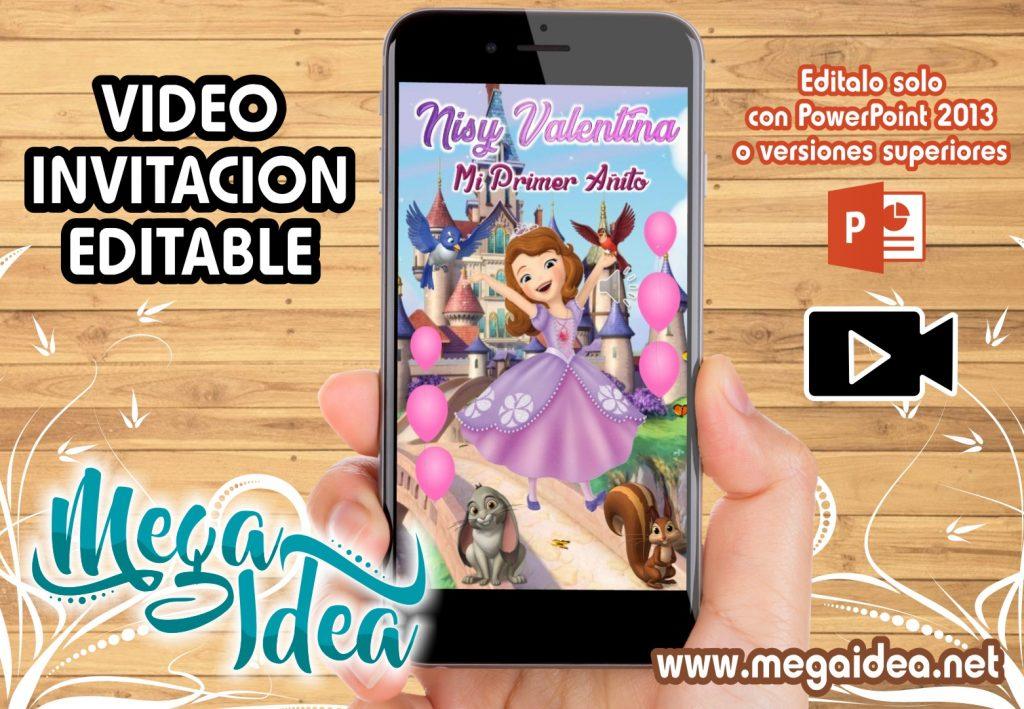 VIDEO invitacion Princesa Sofia
