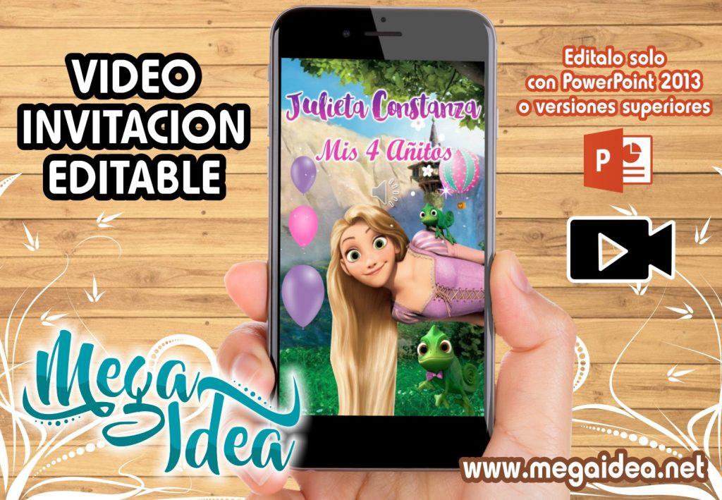 VIDEO invitacion Rapunzel