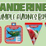 Banderines de Aviones para Cumpleaños Niño