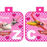 banderin Aviones para cumple girl 03