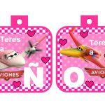banderin Aviones para cumple girl 07