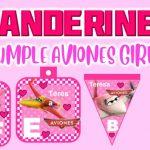Banderines de Aviones para Cumpleaños Niña