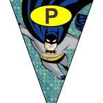 banderines cumple Batman 10