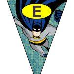 banderines cumple Batman 12