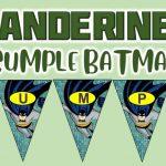 Banderines de Batman para Cumpleaños