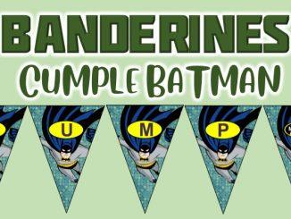 banderines cumple Batman muestra