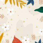 fondo crema flores hojas