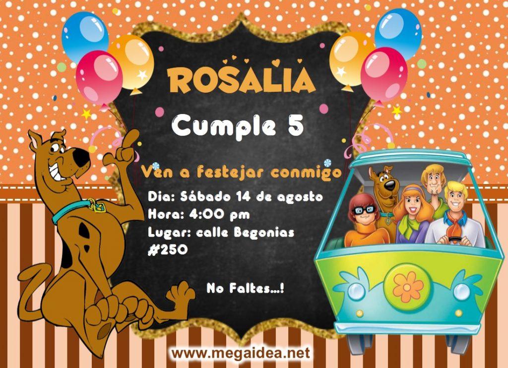 invitacion Scooby Doo
