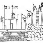 monumento alto de la alianza para colorear