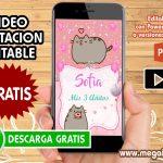 Video Invitacion de Pusheen GRATIS