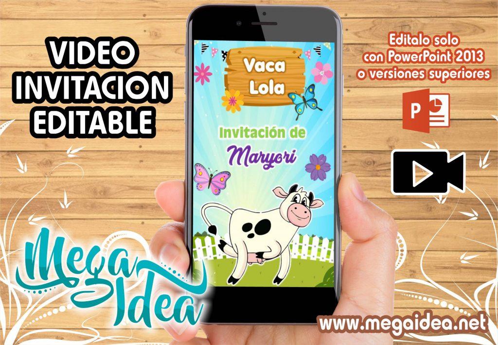 Nueva Video Invitacion de la Vaca Lola