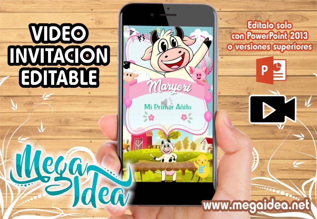Video Invitacion de la Vaca Lola en Powerpoint Editable