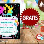 Invitación de Tik Tok GRATIS para editar