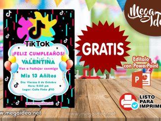 invitacion Tik Tok muestra
