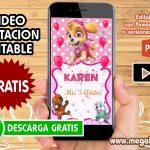 Video Invitacion de Skye GRATIS