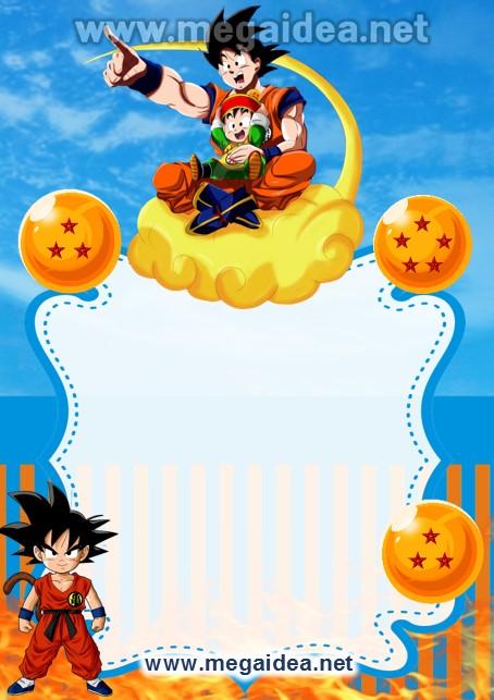 FONDO Invitacion Dragon Ball