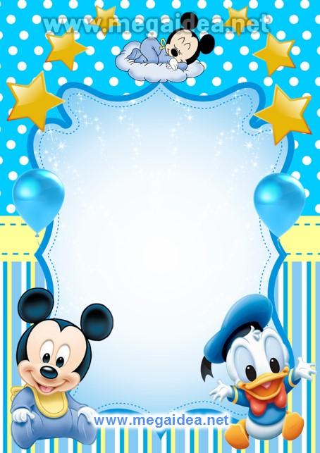 FONDO Invitacion Mickey Bebe