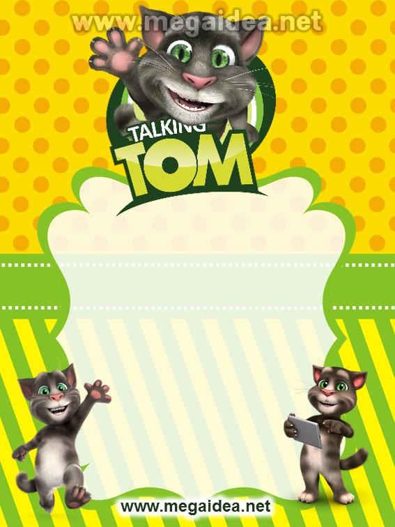 FONDO Invitacion My Talking Tom