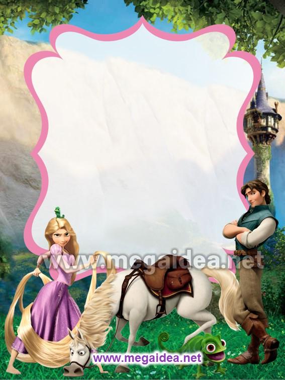 FONDO Invitacion Rapunzel