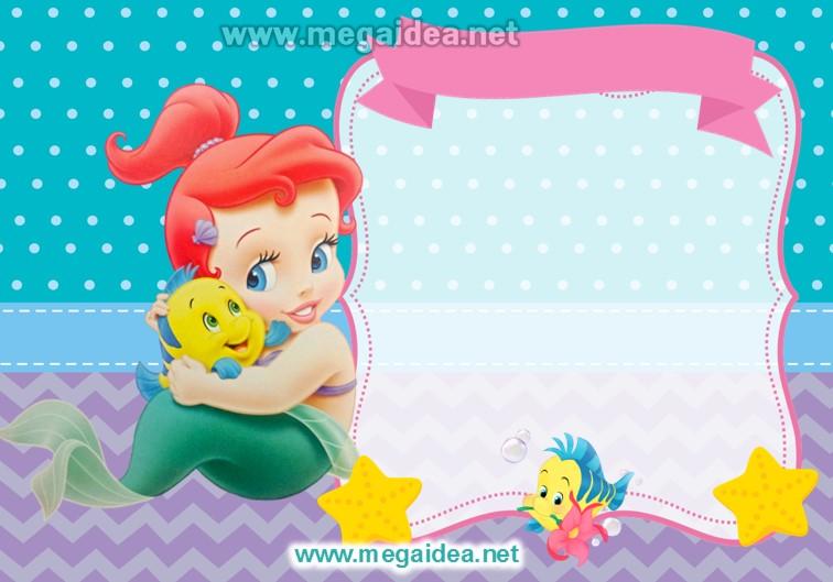 FONDO Invitacion Sirenita Bebe