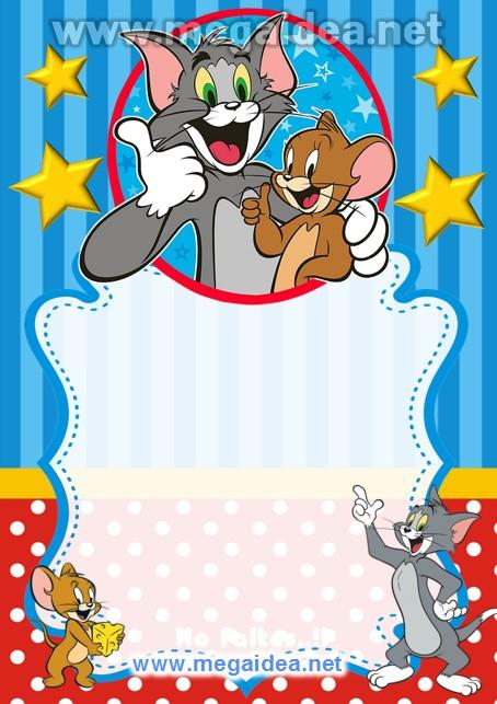 FONDO Invitacion Tom y Jerry