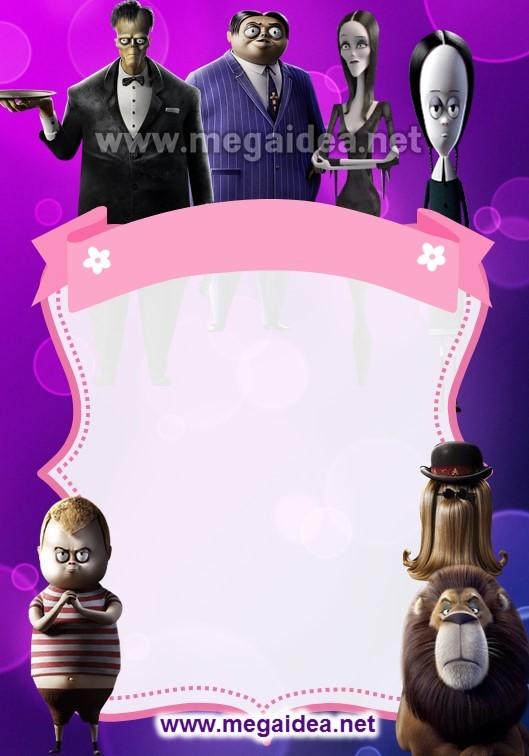 Fondo Invitacion Familia Addams