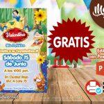 Invitación de Blanca Nieves 2 GRATIS para editar