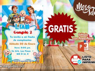 Invitacion Cocomelon