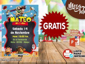 Invitacion Digital ToyStory 4