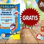 Invitación de Doraemon GRATIS para editar