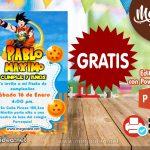 Invitación de Dragon Ball 2 GRATIS para editar