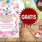 Invitación de Gatita Marie GRATIS para editar