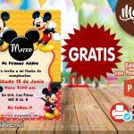 Invitación de Mickey Rojo Amarillo GRATIS para editar