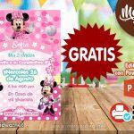 Invitación de Minnie Mouse GRATIS para editar