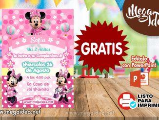 Invitacion Minnie Mouse 2