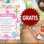 Invitación de Pajaritos GRATIS para editar