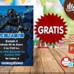 Invitación de Pantera GRATIS para editar
