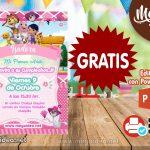 Invitación de Perro Chocolo Girl GRATIS para editar