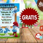 Invitación de Los Pitufos 2 GRATIS para editar