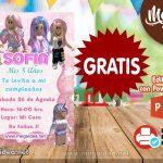 Invitación de Roblox Rosa GRATIS para editar