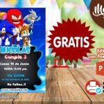 Invitación de Sonic GRATIS para editar
