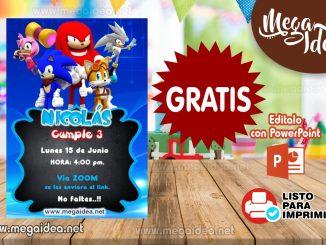 Invitacion Sonic