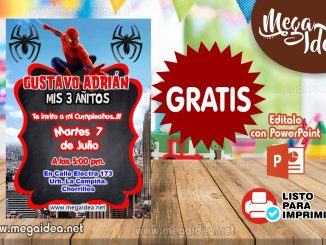 Invitacion Spiderman pelicula
