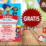 Invitación de Super Hero Girls GRATIS para editar