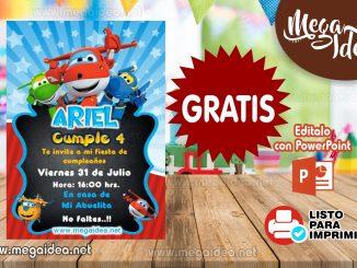 Invitacion Super Wings